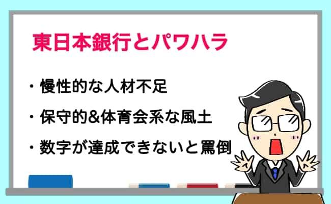 東日本銀行 パワハラ